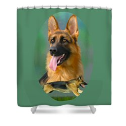 German Shepherd Breed Art Shower Curtain