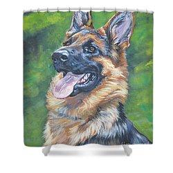 German Shepherd Head Study Shower Curtain by Lee Ann Shepard