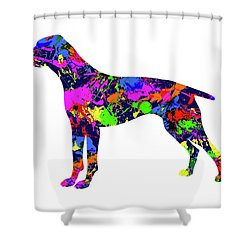 German Shorthaired Pointer Paint Splatter Shower Curtain
