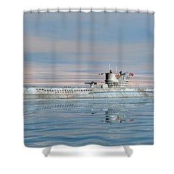 German Submarine U-99 Shower Curtain