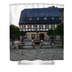 German Town Square Shower Curtain