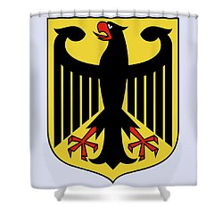 Germany Coat Of Arms Shower Curtain by Movie Poster Prints