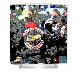 Germany Trial Hell Angels Motorcycle Club Shower Curtain