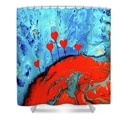 Shower Curtain featuring the painting Germinating Love by Saribelle Rodriguez