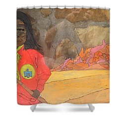 Geronimo Shower Curtain by Don Koester