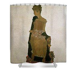 Gerti Schiele Shower Curtain by Egon Schiele