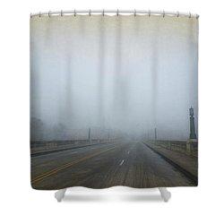 Gervais Bridge Christmas Day Shower Curtain