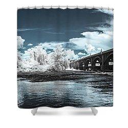 Gervais St. Bridge-infrared Shower Curtain