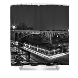 Gervais Street B-w Shower Curtain
