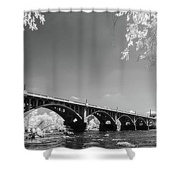 Gervais Street Bridge In Ir1 Shower Curtain