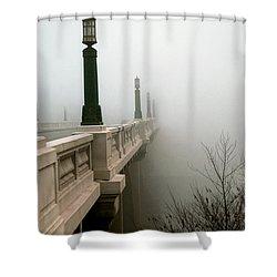 Gervais Street Bridge Shower Curtain by Skip Willits