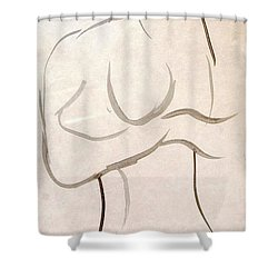 Gestural Nude Sketch Shower Curtain