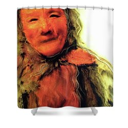 Gestures Of Dignity And Grace Shower Curtain