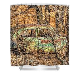 Get Away Car Shower Curtain