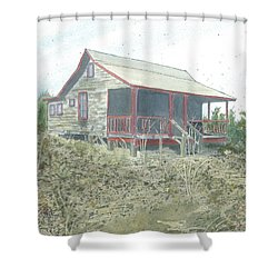 Get Away Cottage Shower Curtain by Joel Deutsch