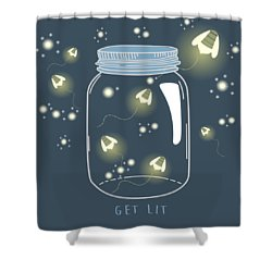 Shower Curtain featuring the digital art Get Lit by Heather Applegate