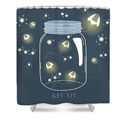 Get Lit Shower Curtain by Heather Applegate