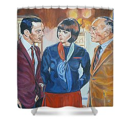 Get Smart Shower Curtain by Bryan Bustard