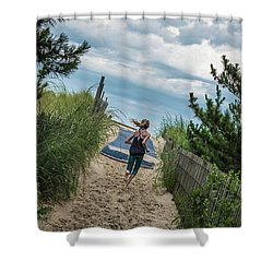 Shower Curtain featuring the photograph Get To The Beach by T Brian Jones