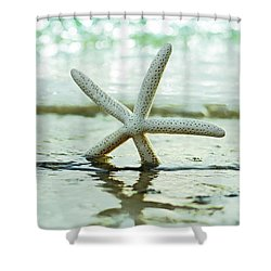 Shower Curtain featuring the photograph Get Your Feet Wet by Laura Fasulo