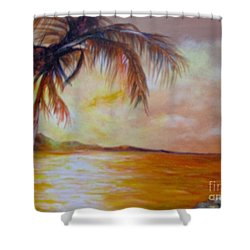 Shower Curtain featuring the painting Getaway by Saundra Johnson