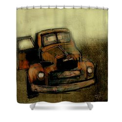 Getaway Truck Shower Curtain by Jim Vance