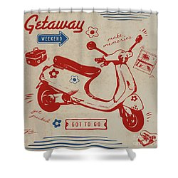 Getaway Weekend Shower Curtain