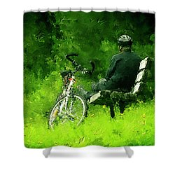 Getting Away From It All Shower Curtain by Ken Morris