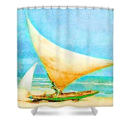 Shower Curtain featuring the painting Getting Ready To Go Out by Angela Treat Lyon