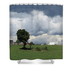Getting Stormy Shower Curtain by Jeanette Oberholtzer