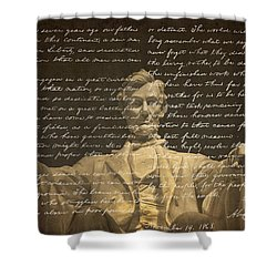 Gettysburg Address Shower Curtain by Diane Diederich