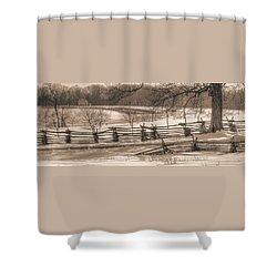 Gettysburg At Rest - We'll Be Home Before Dark - Phillip Synder Farm, Winter Shower Curtain