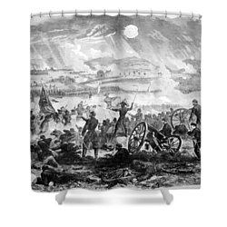 Gettysburg Battle Scene Shower Curtain by War Is Hell Store