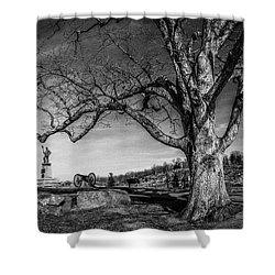 Gettysburg Below Little Round Top Shower Curtain