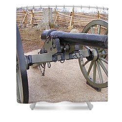 Gettysburg Cannon Shower Curtain by Adam Cornelison