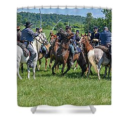 Gettysburg Cavalry Battle 7970c  Shower Curtain