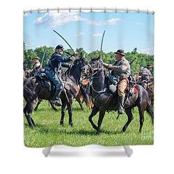 Gettysburg Cavalry Battle 7978c  Shower Curtain