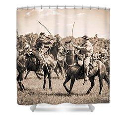 Gettysburg Cavalry Battle 7978s  Shower Curtain