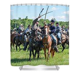 Gettysburg Cavalry Battle 7992c  Shower Curtain