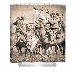 Gettysburg Cavalry Battle 8021s  Shower Curtain