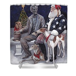 Gettysburg Christmas Shower Curtain
