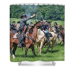 Gettysburg  Union Cavalry 7920c  Shower Curtain