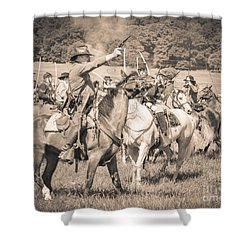Gettysburg  Union Cavalry 7920s  Shower Curtain