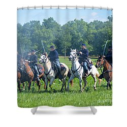 Gettysburg  Union Cavalry Shower Curtain