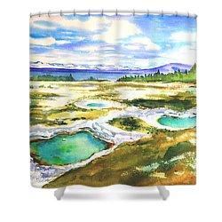 Geyser Basin, Yellowstone Shower Curtain