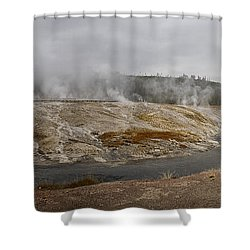 Geyser Hill  Shower Curtain by Shirley Mitchell