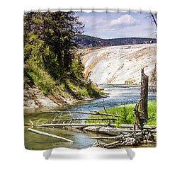 Geyser Stream Shower Curtain