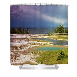 Geysers Pools Shower Curtain