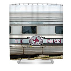 Ghan Train At Alice Springs Shower Curtain