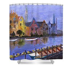 Shower Curtain featuring the painting Ghent by Jamie Frier